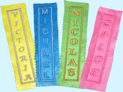 Make Your Child S Reading Experience Personal With One Of Our Customized Bookmarks Made Heavy Duty Felt And Embroidered Name
